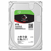 "Жесткий диск 8TB Seagate IronWolf ST8000VN004 (SATA 6.0Gb/s, 7200 rpm, 256mb, 3.5"",для NAS)"