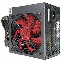 CROWN Блок питания CM-PS500W PLUS OEM (ATX 500W, EMI/CE, 20+4in 400mm, 120mm red FAN, SATA*4, IDE*4, FDD*1, 4+4pin, 6+2pin PCI-E*1, кабель питания 1.2м, плёнка)