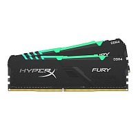 Kingston DDR4 DIMM 32GB Kit 2x16Gb HX426C16FB3AK2/32 PC4-21300, 2666MHz, CL16, HyperX Fury Black