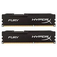 Kingston DDR3 DIMM 8GB (PC3-10600) 1333MHz Kit (2 x 4GB)  HX313C9FBK2/8 HyperX FURY Black Series CL9