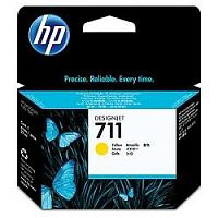 HP CZ132A Картридж №711, Yellow {Designjet T120/T520, Yellow (29ml)}