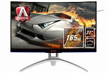 "LCD AOC 27"" AGON AG272FCX6 Black-Silver {MVA curved 1920x1080 165Hz 1ms 178/178 250cd 50M:1 2xHDMI2.0 DisplayPort1.2 2xUSB3.0 MM регулировка по высоте}"