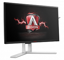 "LCD AOC 23.8"" AGON AG241QG черный {TN+film GSync 2560x1440@165Hz 1ms 16:9 HAS Pivot 170/160 350cd HDMI DisplayPort USB3.0x4 AudioOut 2Wx2}"