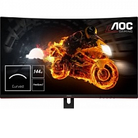 "LCD AOC 31,5"" C32G1 черный/красный {VA Curved FreeSync 1920x1080@144Hz 1ms 178/178 250cd 3000:1 Frameless D-sub HDMIx2 DisplayPort AudioOut}"