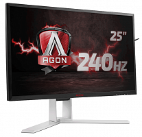 "LCD AOC 24.5"" AGON AG251FZ Black-Red {TN FreeSync 1920x1080@240Hz 1ms 16:9 170/160  400cd D-Sub DVI HDMIx2 DisplayPort USB3.0x4 AudioOut 3Wx2}"