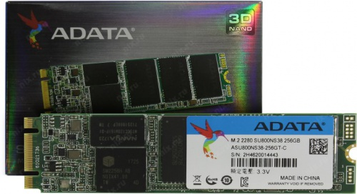 A-DATA SSD M.2 256GB Ultimate SU800 ASU800NS38-256GT-C со склада в Москве фото 2