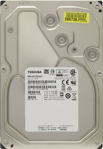 "6TB Toshiba (MG04ACA600E) {SATA 6.0Gb/s, 7200 rpm, 128Mb buffer, 3.5""} со склада в Москве фото 3"