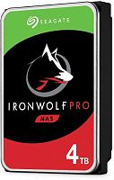 "4TB Seagate Ironwolf Pro (ST4000NE001) {SATA 6.0Gb/s, 7200 rpm, 128mb buffer, 3.5"",для NAS}"