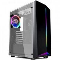 1STPLAYER R6-A-1R1 Корпус RAINBOW R6-A / ATX, tempered glass side panel / 1x 120mm LED fan inc. / R6-A-1R1