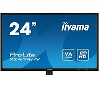 "Монитор IIYAMA 23.6"" X2474HV-B1 черный (VA LED 1920x1080 4ms 16:9 D-Sub)"