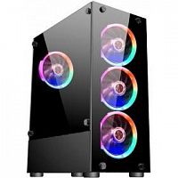 1STPLAYER V2-A-4R1 Корпус FIRE DANCING V2-A / ATX, tempered glass / 4x 120mm LED fans inc. / V2-A-4R1