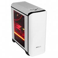 GameMax H602WB без БП Корпус (Midi Tower, ATX, White+Black, Blue Led)