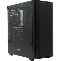 Powercase CASMB-F1 Корпус Alisio Mesh M Black, Tempered Glass, 1х 120mm fan, черный, ATX  (CASMB-F1)