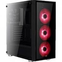 "MidiTower  AeroCool ""Quartz Red"" ATX 2.03,  без б/п 68934"