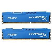 Kingston DDR3 DIMM 8GB (PC3-10600) 1333MHz Kit (2 x 4GB)  HX313C9FK2/8 HyperX FURY Blu Series CL9